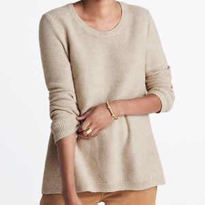 Madewell Riverside Textured Sweater in Sand